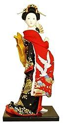 Authentische japanische Geisha Vintage Figur: 9 Zoll-#7
