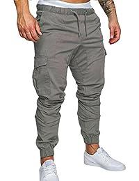 c61e1c46602 Homme Pantalon Casual Cargo Chino Jeans Sport Jogging Slim Fit Pantalon  Coton