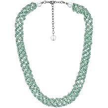 Lisa: para collar de cuentas tejido técnica perlas y cristales verde