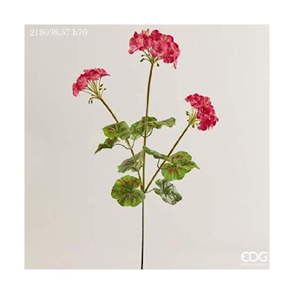 EDG Flores artificiales geranio de rama fucsia X3 H70-218038,57