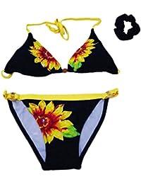 e29b4ce8db takestop® Costume Bikini Triangolo Slip Cerchietto Girasole Fiori Floreale  con codino Colorate Colori Costumi Regolabile