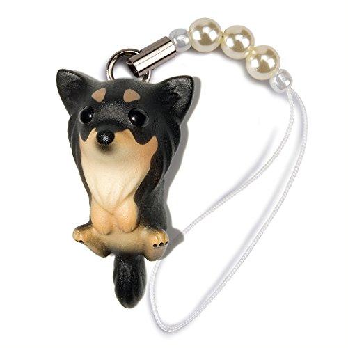 andgemachter Hundeperlen-Handy-Bügel Langhaar-Chihuahua Black and Tan ()