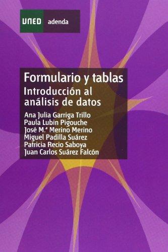 Formulario y Tablas. Introducción Al Análisis de Datos (ADENDA) por Ana Julia GARRIGA TRILLO