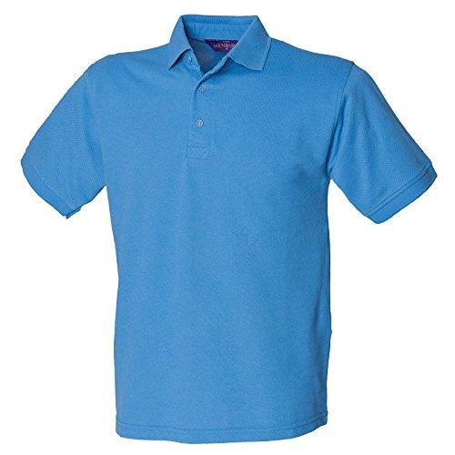 Henbury Herren Modern Poloshirt Mittelblau