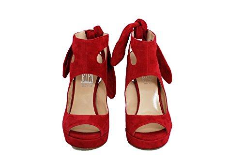 Sandalo RIPA tacco alto con plateaux Rosso