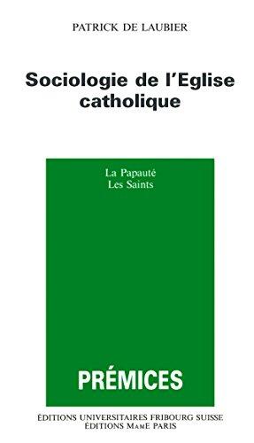 SOCIOLOGIE DE L'EGLISE CATHOLIQUE