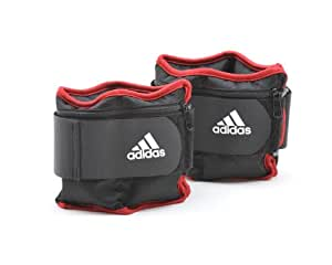 adidas Adjustable Ankle/Wrist Weights, 2 x 5 lb., 2 x 5 lb./black, red