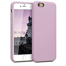 kwmobile TPU Silicone Case Compatible with Apple iPhone 6 / 6S - Soft Flexible Rubber Protective Cover - Mauve