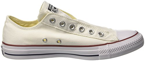 Converse Chuck Taylor All Star Slip On Ox, Baskets mode mixte adulte Blanc (Optical White)