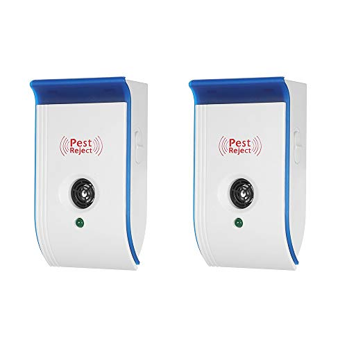 PKA Ultraschall-Schädlingsvertreiber mit Nachtlicht, ungiftiger Abwehr für Mäuse, Mücken, Ameisen, Spinnen, Roaches Abwehr von 90-240 V