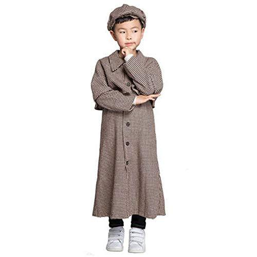 Sherlock Sexy Holmes Kostüm - JACKII Sherlock Holmes Kostümdetektiv für Kinder Performance, Festival, Party, Halloween,M
