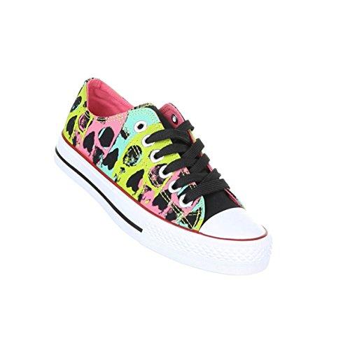 Damen Schuhe Freizeitschuhe Sneakers Modell Nr.1Schwarz