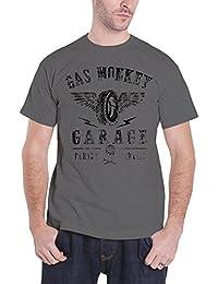 Gas Monkey Garage T Shirt Tyres Parts Service Nuevo Oficial de los Hombres Gris