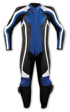 Tuta-Pelle-Intera-Moto-Racing-Pista-Sport-Professionale-Protezioni-Ce-Blu-58