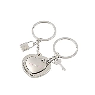 RuiChy Sweet Lover Pair Intimate Key Chain Key Ring for Couple