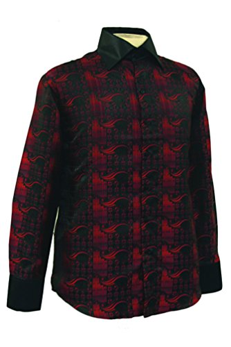 Sunrise Outlet - Chemise habillée - Avec boutons - Manches Longues - Homme Rouge - Rouge