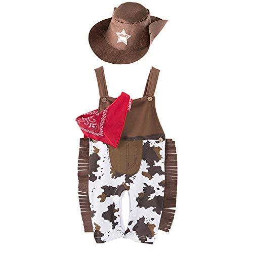 Wild West Kleinkind Kostüm Cowboy - LOLANTA Western Cowboy Kostüm für Babys Kleinkind West Sheriff Kostüm Halloween Kostüm (18-24 Monate)