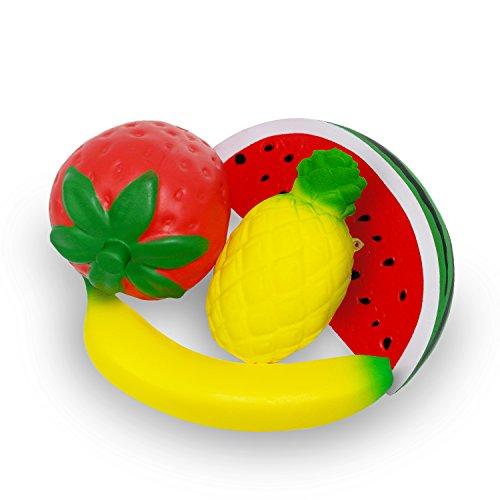 Sundell Jumbo Frutas Squishies Paquete, Levantamiento Lento de Cream Perfumado Juguetes, Kawaii, Descompresión, Interesante para Niños Adultos Regalos
