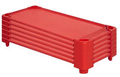 Standard-stapelbar (ECR4Kids stapelbar montiert Kiddie Kinderbett, Standard / 5-Pack, rot, 1)