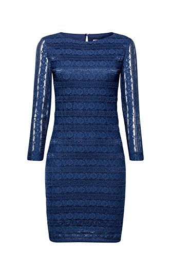 edc by ESPRIT Damen Kleid Blau (Petrol Blue 450)