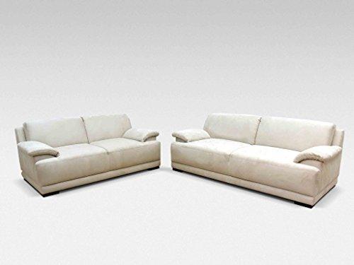 ALESSANDRIA Boxspringsofa 2-Sitzer 3-Sitzer Garnitur Sofa Couch Creme - 2