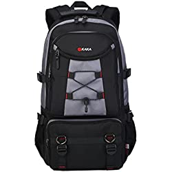 MUFUBU Presents Multifunctional Laptop Backpack for Men with Side net Pockets and Waist Belt - Grey