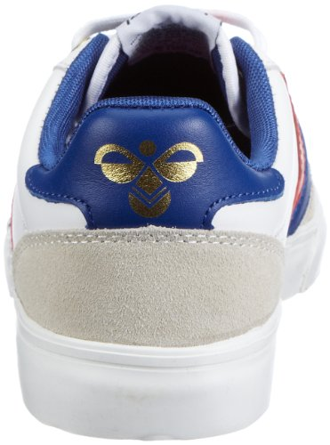 hummel STADIL LOW 63-064-2640 Unisex - Erwachsene Fashion Sneakers Weiss/WHITE/BRILLIANT BLUE/RED