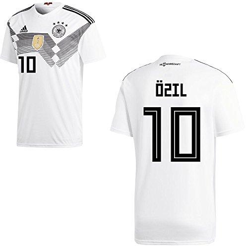 adidas DFB Deutschland Fußball Trikot Home Heimtrikot WM 2018 Herren Kinder mit Spieler Name Farbe Özil, Größe 128