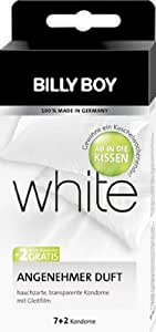 "Billy Boy white Kondome transparent, 7+2, ""Ab in die Kissen""-Aktionspackung, 1er Pack (1 x 9 Stück)"