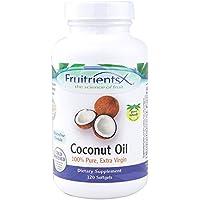 FruitrientsX - Extrajungfrau 100des Kokosnußöl-% Pure - 120 Softgels preisvergleich bei billige-tabletten.eu