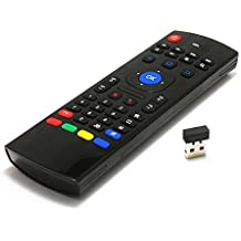 TABTRONICS cloudigital MX3 multifunción 2,4 G Mini Teclado Inalámbrico Air Mouse y mando a distancia por infrarrojos & 3-Gyro + 3-gensor para Google Android TV/caja, IPTV, HTPC, Windows, Mac OS, PS3