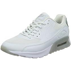 Nike Damen W AIR MAX 90 ULTRA ESSENTIAL Sneakers, Weiß (100 White-WLF Gry-Mtllc SLVR), 40 EU
