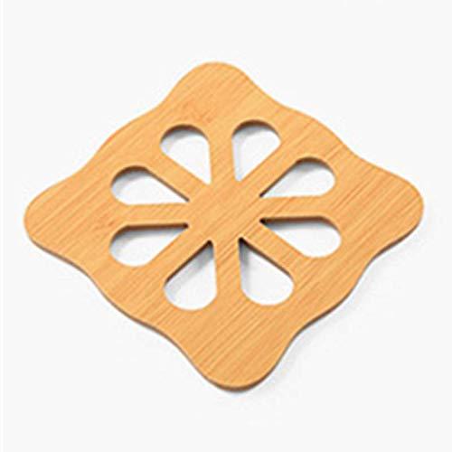 ZLDDE 9 Stück Holz Cartoon Untersetzer Nette Isolation Pad Tisch Mat Pflaume (quadratisch) Green Oval Dutch Oven