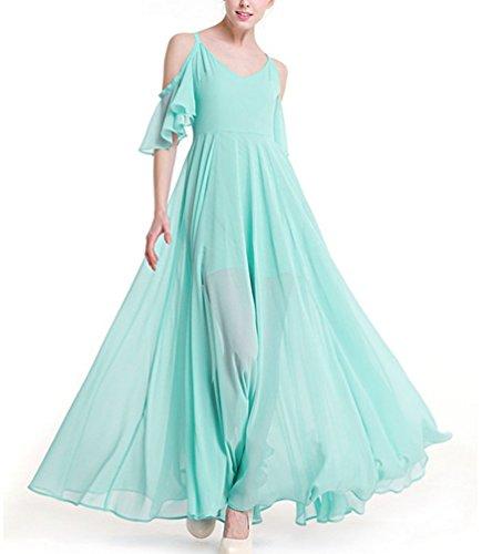 Ghope Damen Elegant Chiffon Kleider Abendkleid Cocktailkleid ...