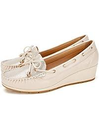 1d964afff64cdd Cestfini Chaussures Bateau Confortables Femmes compensé Mesdames Mocassins  Respirant, Le Choix pour Le Travail et
