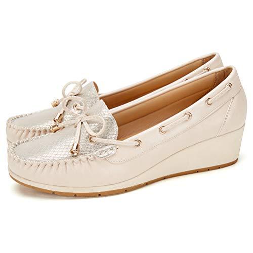 Zapatos Planos Comodos Náuticos Mujer - Mocasín