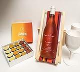 Pâques: Bourgogne rosé-Chocolats aux fruits jaunes Meilleur Ouvrier de France-Transat porte bouteille-2 verres blancs