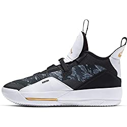 Nike Air Jordan Xxxiii - black/metallic gold-white-universit, Größe:9