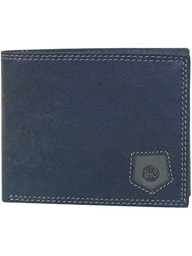 HC Herren Geldbörse quer mit RFID Schutz, Farben:Marine -