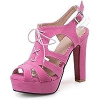 WHL Shoes Les Chaussures À Talons Hauts Sandales Et Élégante Terrasse En Été Et Fendu Avec Fine Hasp Confortable Black 38 tf0hIvX