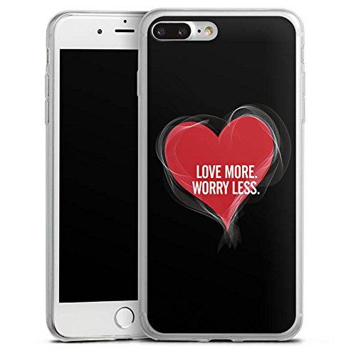 Apple iPhone 8 Plus Slim Case Silikon Hülle Schutzhülle Liebe Sprüche spruch Silikon Slim Case transparent