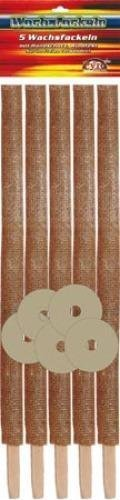 Wachsfackel 5er,ca. 45 cm