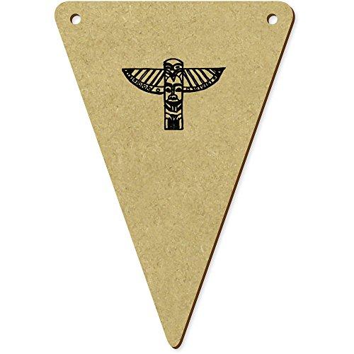 5 x 100mm 'Totem' fanions triangles en bois (BN00008462)