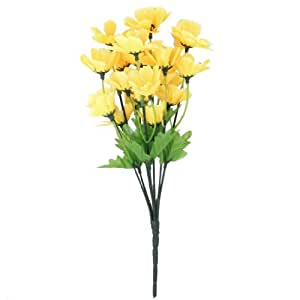 1 Mazzetto Finto Ciliegio Orientale Fiore Artificiale Bouquet Home Office Decorazione - Giallo