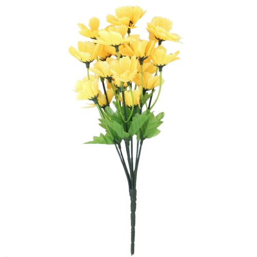 Yellow artificial flowers amazon 1 bunch of artificial oriental cherry flower blossom bouquet homeofficeparty decoration yellow mightylinksfo Gallery