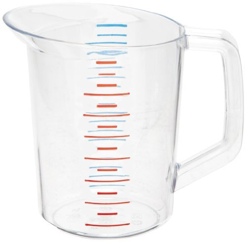 Rubbermaid 3216 1 qt Capacity, Clear Color, Polycarbonate Bouncer Measuring Cup by Rubbermaid Commercial (Bouncer 1 Quart)