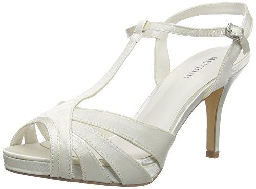 Menbur WeddingOlivia - Sandali Donna , Bianco (Elfenbein (Ivory)), 39 EU