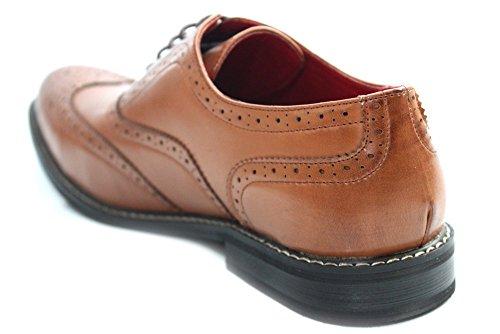 Giovanni pour homme Marron clair vintage Bureau Londres Richelieu chaussures taille UK 6–12 Marron - Brun