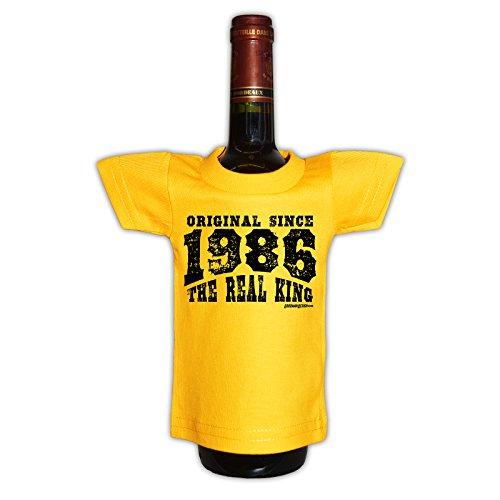 (Mini T-Shirt - Original since 1986 The real king - Originelle Verpackung - Geschenkidee - Geburtstag - Party Gag)