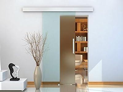 Puerta Corredera 205x102.5cm Puertas Correderas Deslizantes Cristal sin Obra